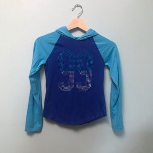 Children's sparkly blue top